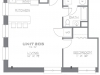 The Columbian, Sample 1 Bedroom Apartment Floorplan