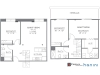 The Columbian, Sample 3 Bedroom Apartment Floorplan